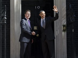 President Obama and Prime Minister Cameron shake hands outside No 10 Downing Street ©The Prime Minister's Office Flickr