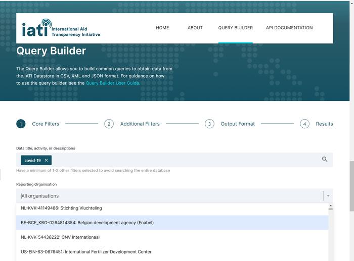 IATI Datastore Query Builder launch.png
