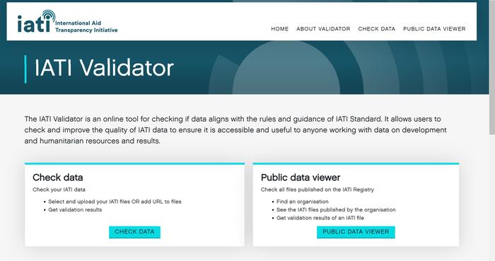 IATI Validator launch.png