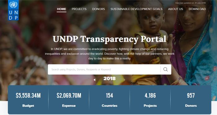 UNDP transparency portal